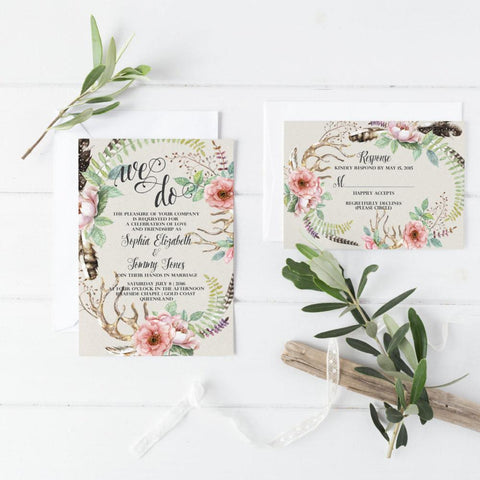 Dolkens Invitations Wedding Stationery Timeless Bohemian Wedding Invitation Suite