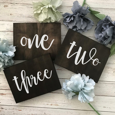 Dolkens Invitations Wooden Signs Rustic Wooden Table Numbers