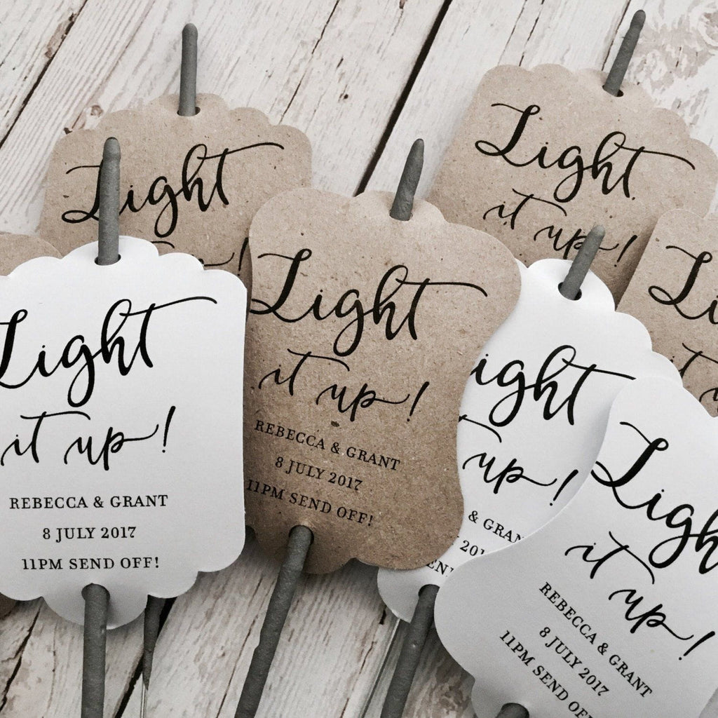 Sparkler Tags for Wedding