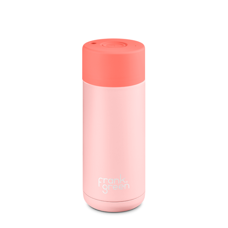 Frank Green | Frank Green Reusable Cup 16oz Push Button - Blush/Coral | Shut the Front Door