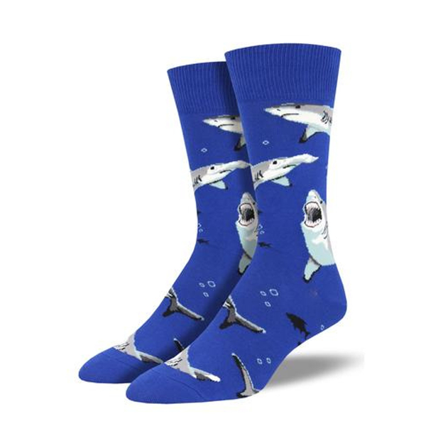 Socksmith | Men's Shark Chums Socks - Blue | Shut the Front Door