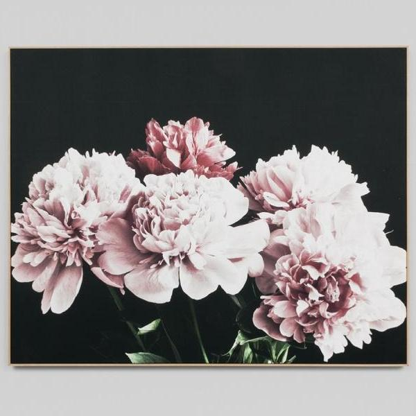 Middle of Nowhere | Framed Canvas - Blush Peonies | Shut the Front Door