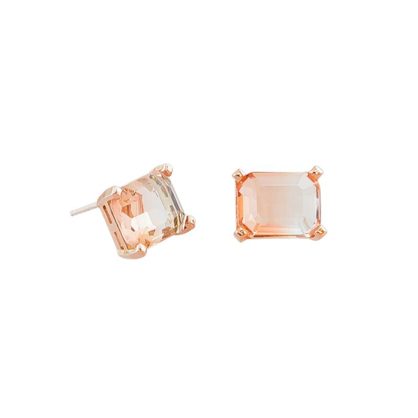 Tiger Tree | Crystal Oblong Stud Earrings - Rose Petal | Shut the Front Door