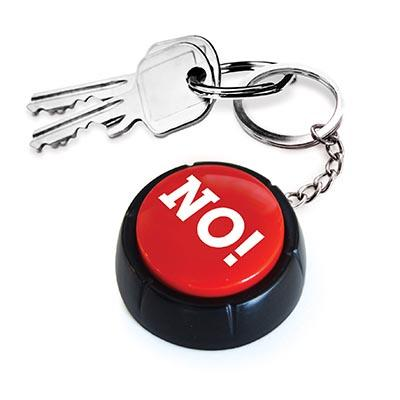IS Gifts | The No! Button Keyring | Shut the Front Door