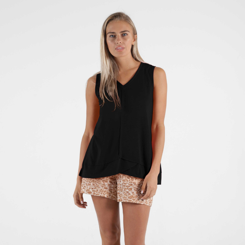 Betty Basics | Halle Tank - Black | Shut the Front Door