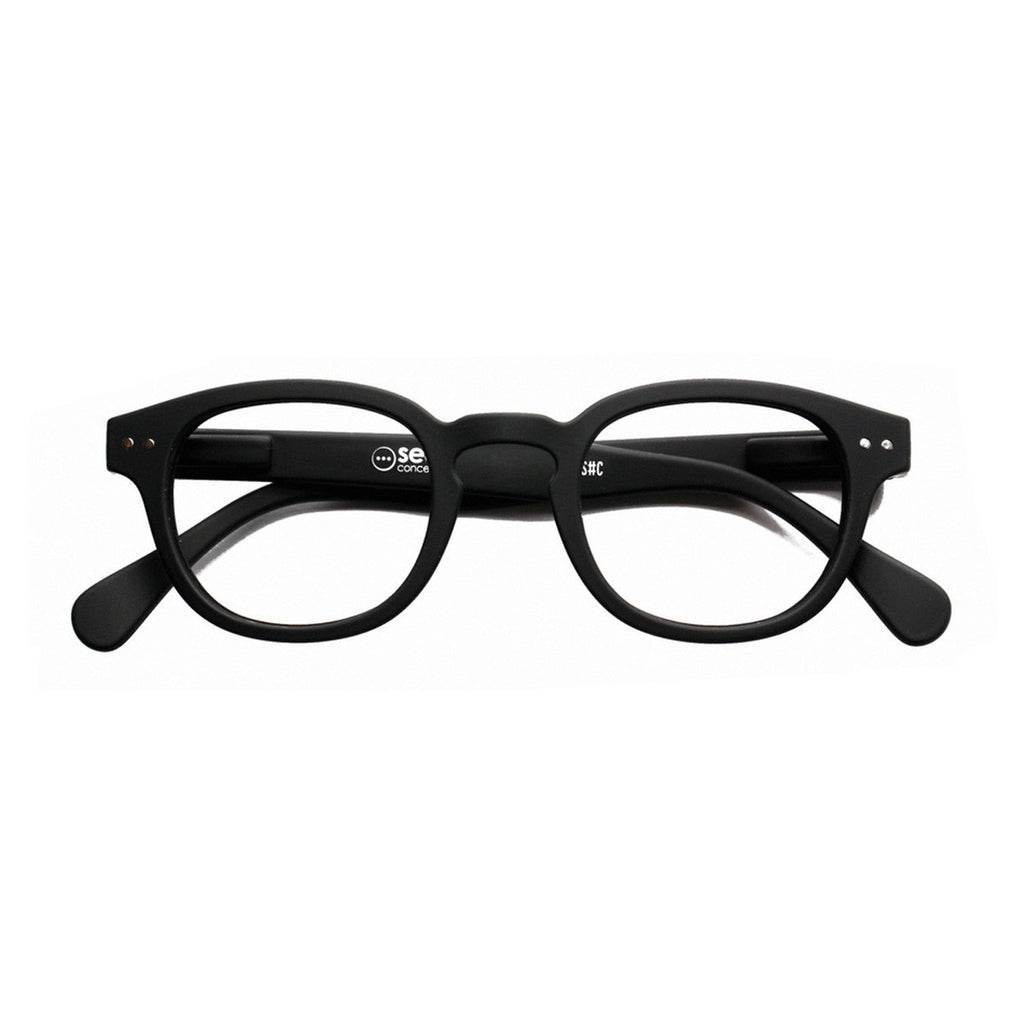 Izipizi | Reading Glasses Collection C Black +2 | Shut the Front Door