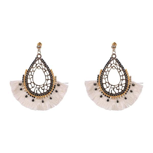 eb & ive | Grecia Teardrop Earrings Vanilla | Shut the Front Door