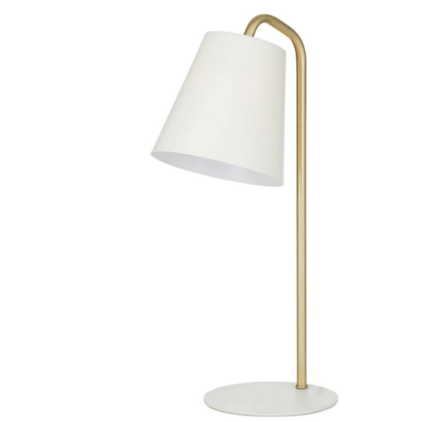 Carson Desk Lamp in Ivory