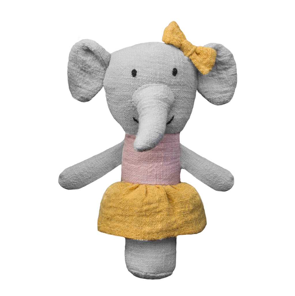 Lily and George | Effie Elephant Stick Rattle | Shut the Front Door