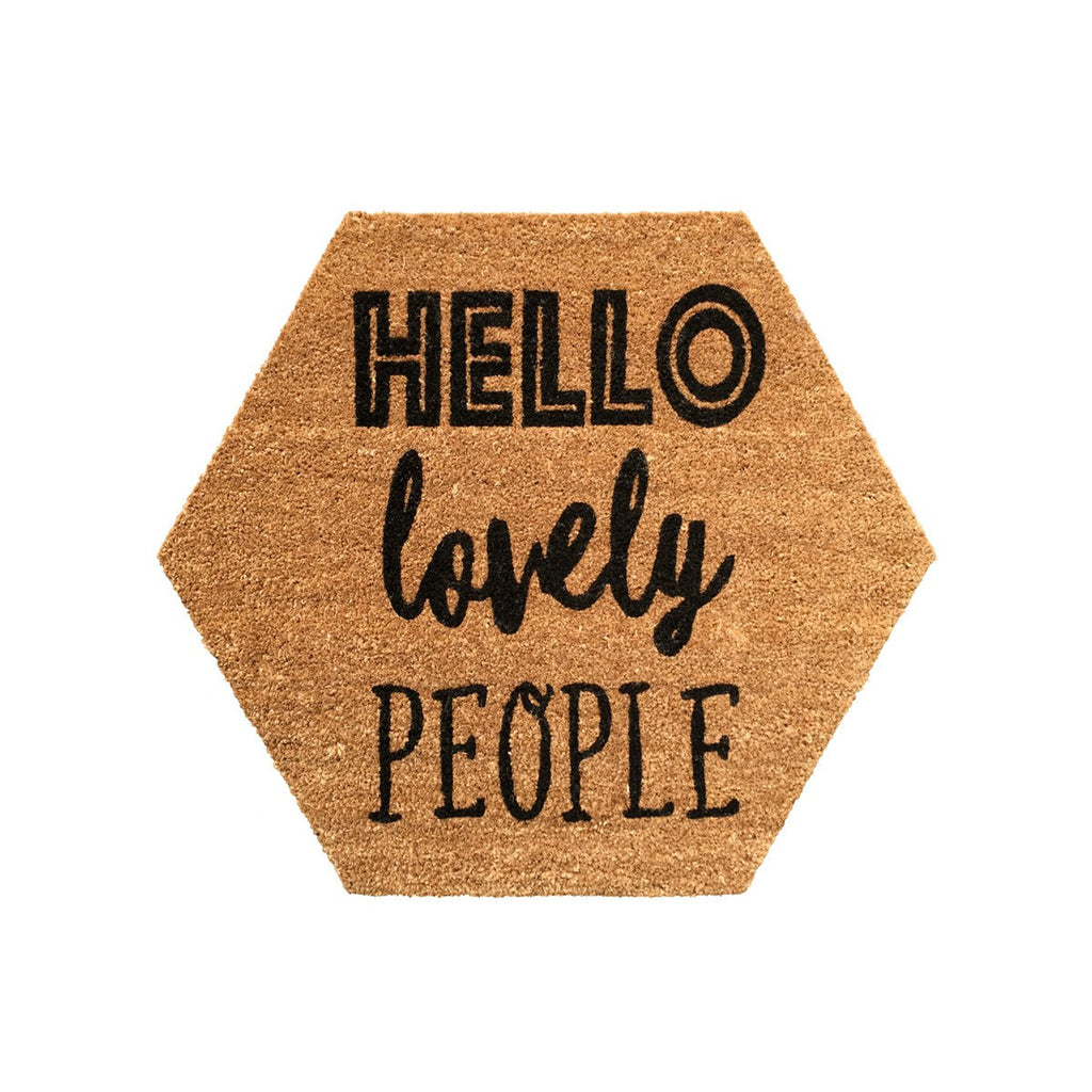 General Eclectic | Doormat Hello Lovely People Hex | Shut the Front Door
