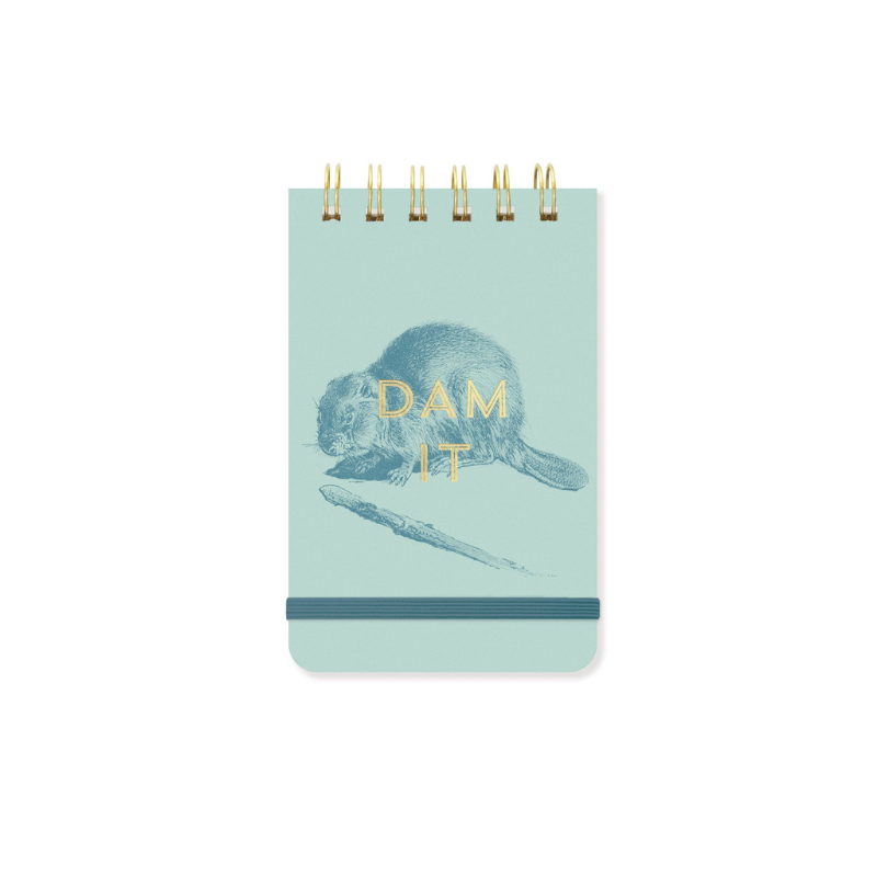 Designworks | Pocket Notepad Twin Wire - Dam It | Shut the Front Door