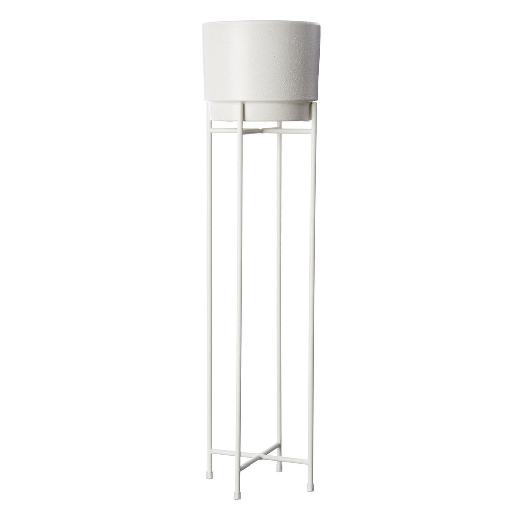 Milk & Sugar | Iris Plant Pot Stand - Tall White | Shut the Front Door