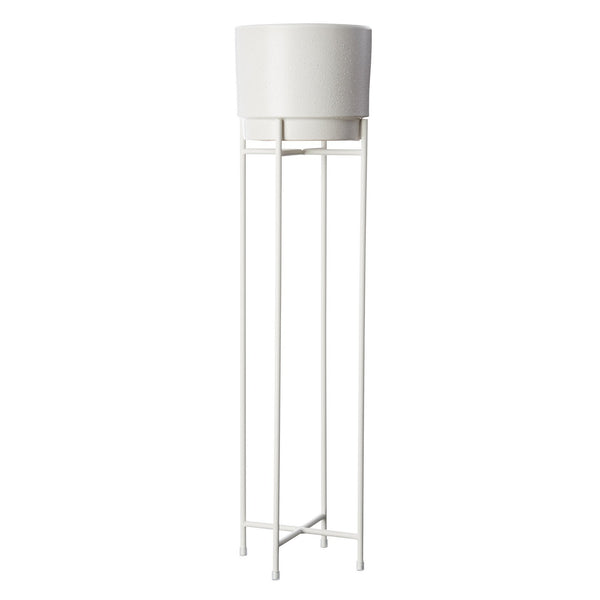 Milk & Sugar | Iris Plant Pot Stand - Tall - White | Shut the Front Door