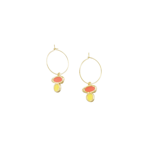 Tiger Tree | Pebble Drop Earrings - Orange | Shut the Front Door