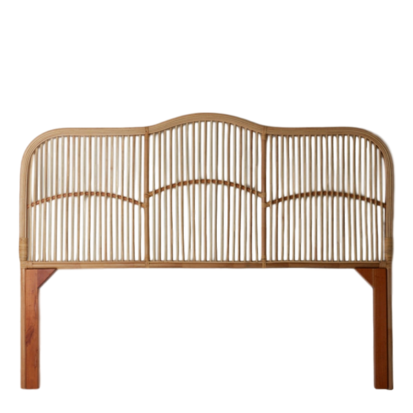 General Eclectic | Rattan Bed Head - King Single | Shut the Front Door