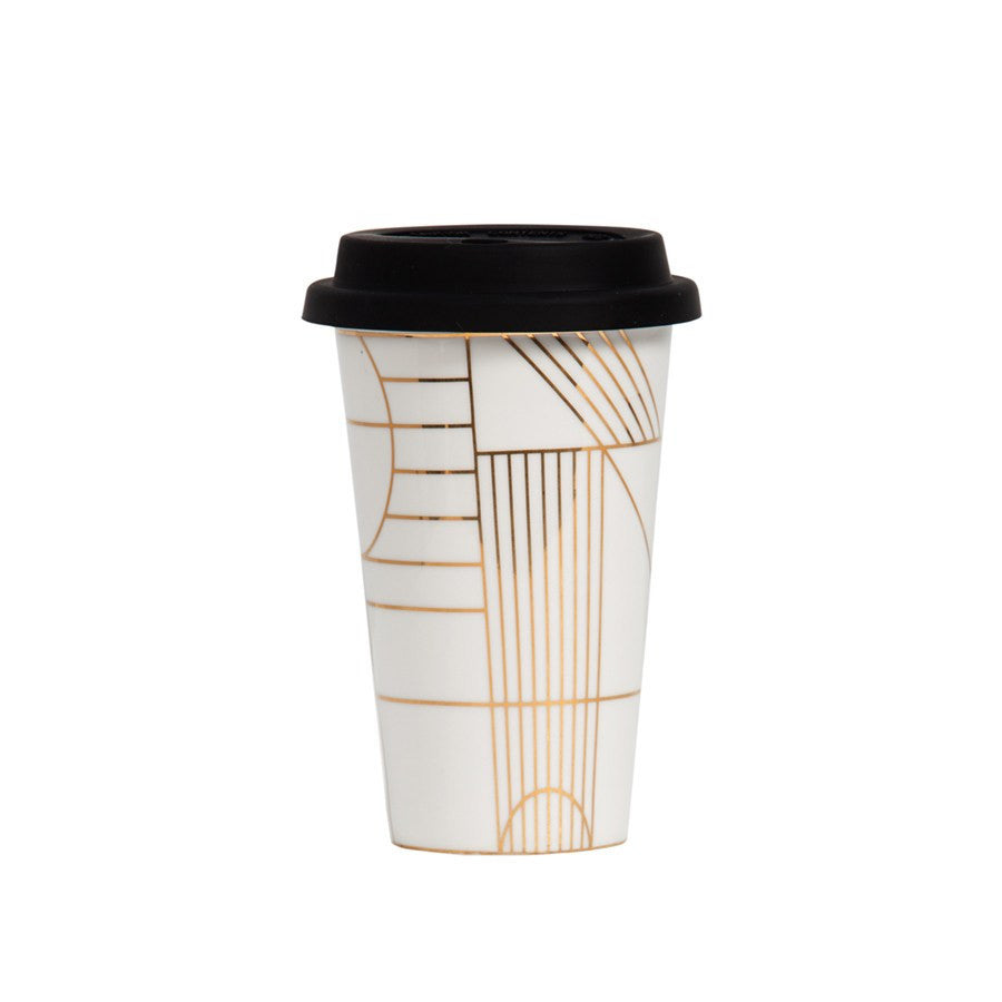 Takeaway Cup Gold Deco
