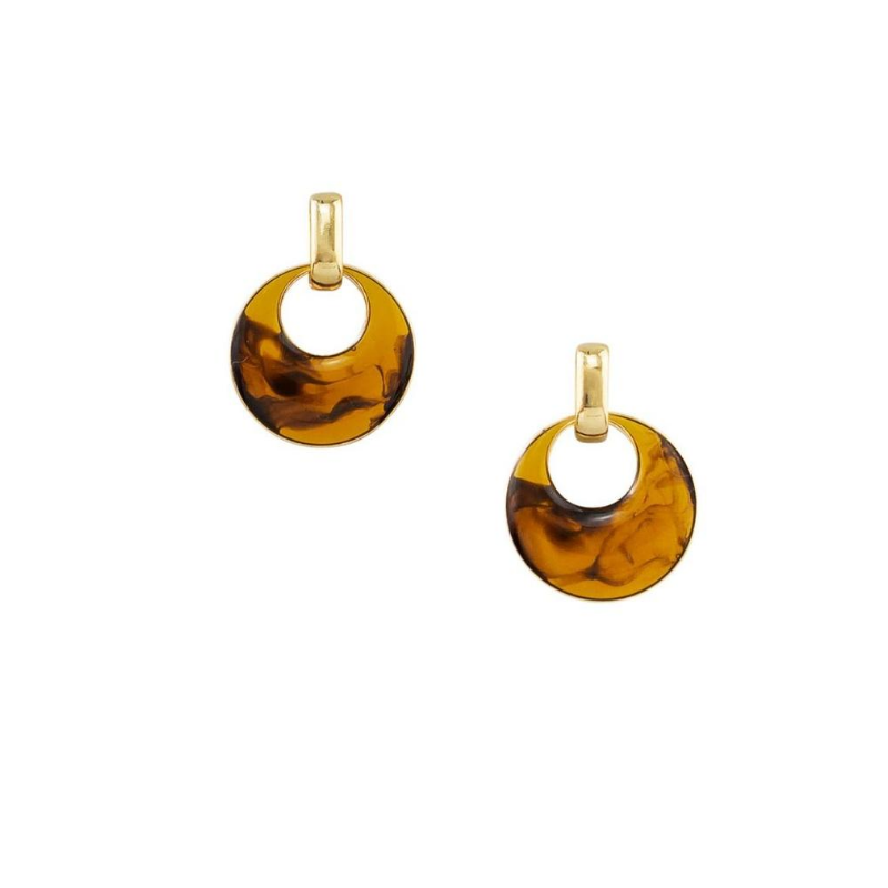 Tiger Tree | Amber Swirled Earrings | Shut the Front Door