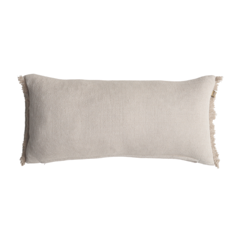Raine & Humble | Chambray Waffle Cushion 30x60cm Taupe | Shut the Front Door
