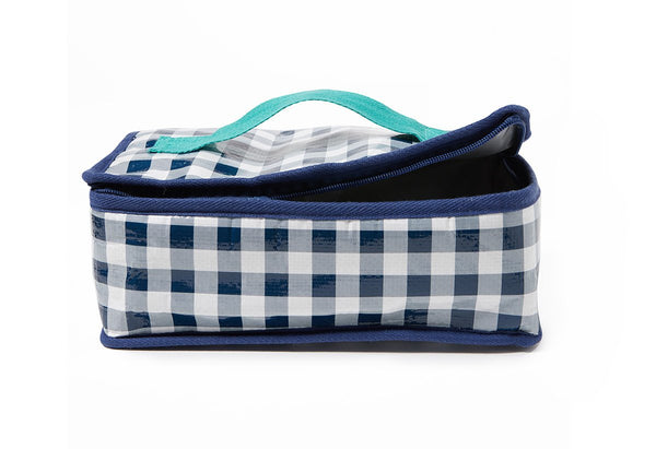 Project Ten | Lunch Bag - Navy Gingham | Shut the Front Door