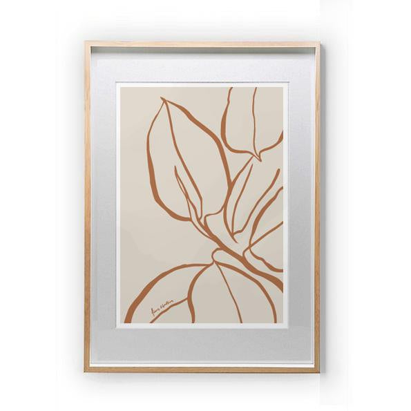 MAIKO NAGAO | Ficus Lines Print A3 Sienna *Excludes Frame* | Shut the Front Door