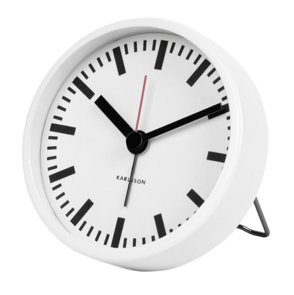 Karlsson | Classic Station Alarm Clock White | Shut the Front Door