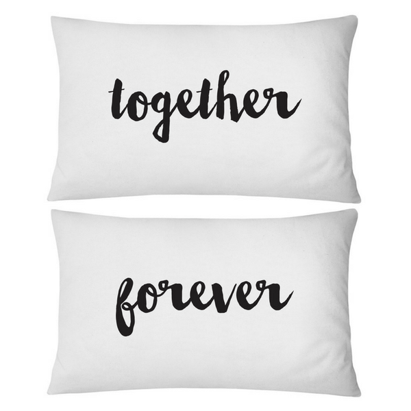 Pillow Case Std Together Forever WHITE
