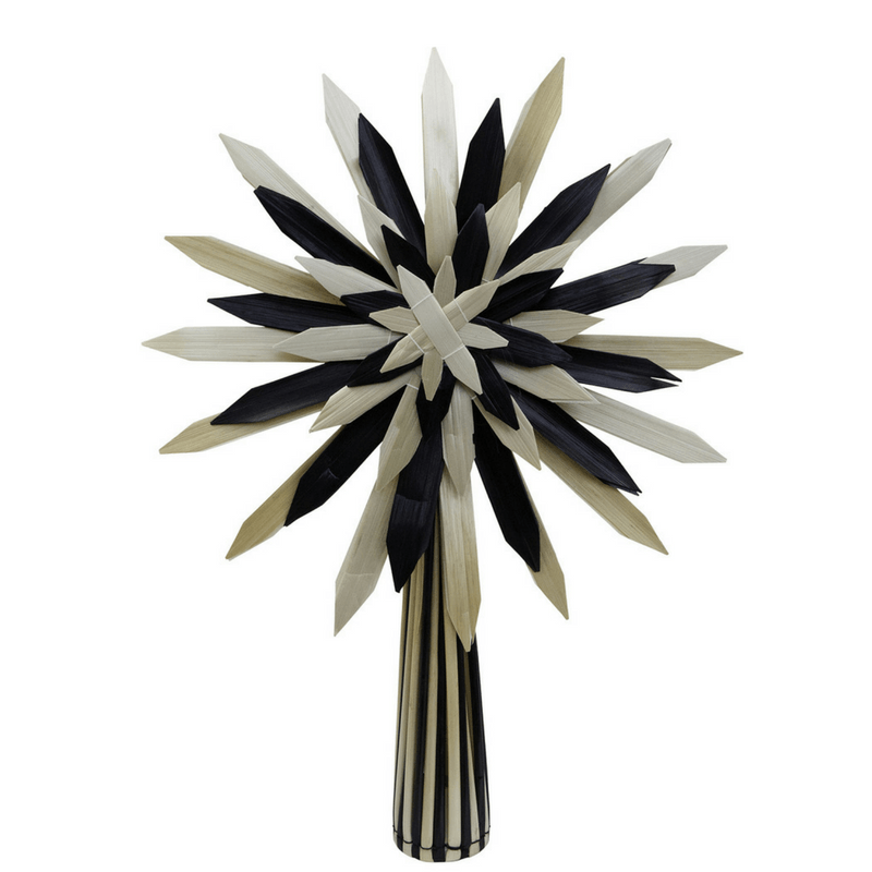 Down to the Woods | Scandi Tree Topper Black & Natural | Shut the Front Door