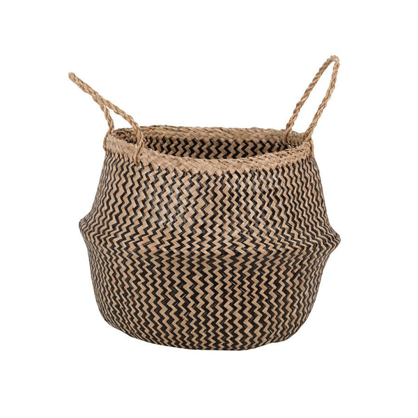 General Eclectic | Seagrass Belly Basket  Zig Zag | Shut the Front Door
