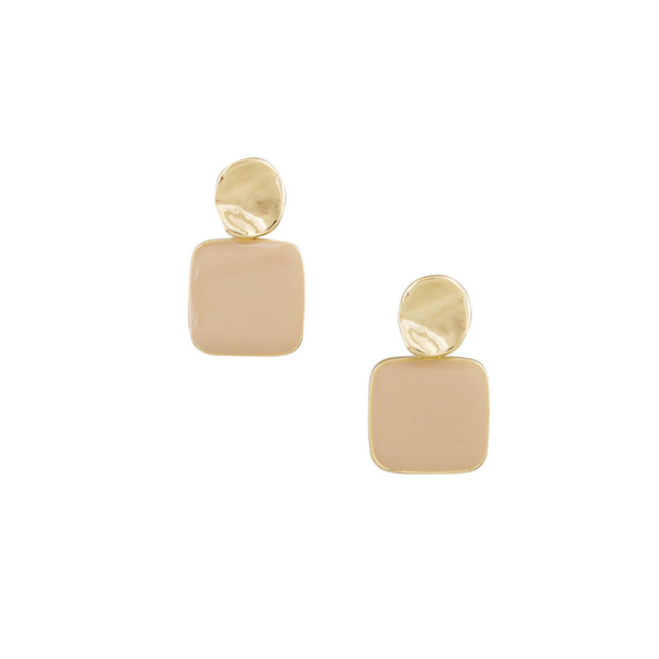 Tiger Tree | Retro Drop Earrings - Nude | Shut the Front Door