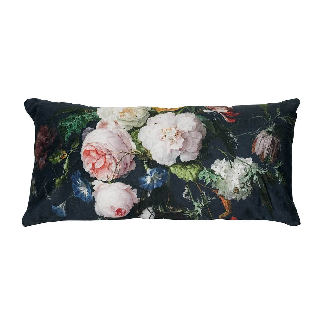 Kerridge Linen | Cushion Velvet Plush Floral Oblong | Shut the Front Door