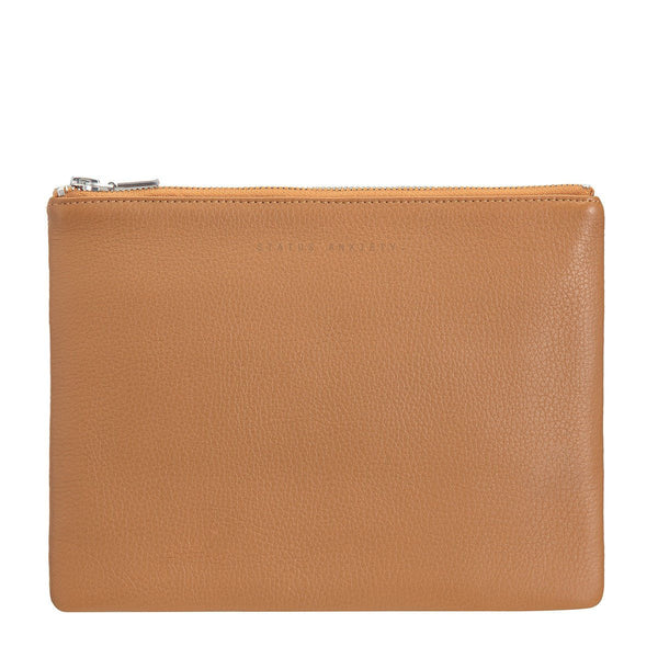 Status Anxiety | Anti-Heroine Clutch TAN | Shut the Front Door