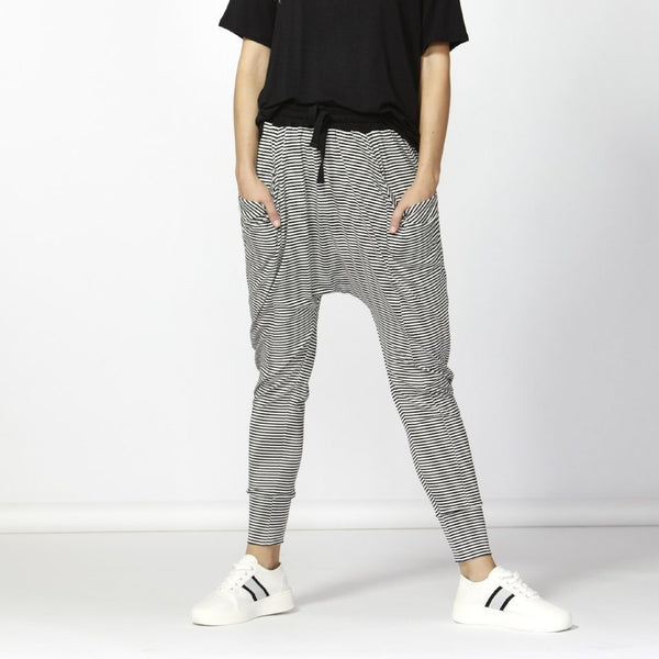 Betty Basics | Barcelona Pant Black White Stripe | Shut the Front Door