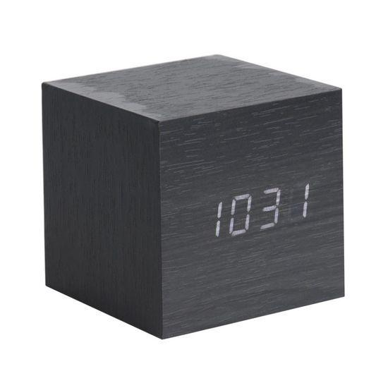 Karlsson | Alarm Clock Mini Cube Black | Shut the Front Door