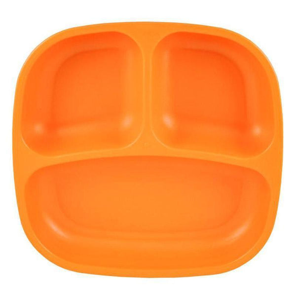Re-Play | Re-Play Divided Plate - Orange | Shut the Front Door