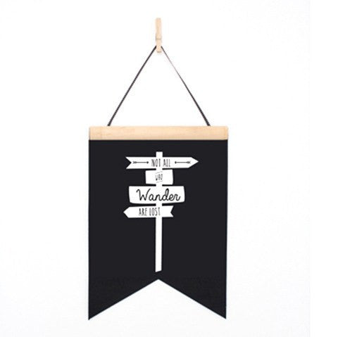 Toodles Noodles | Felt Banner Not all who wander | Shut the Front Door