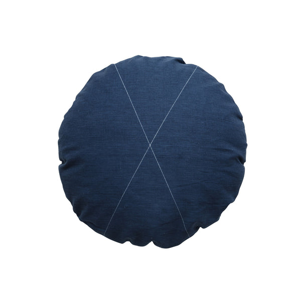Milk & Sugar | Cushion Cross Round NAVY | Shut the Front Door