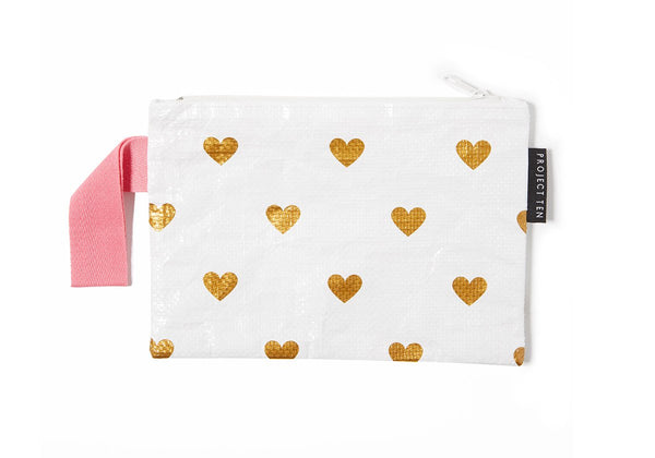 Project Ten | Mini Zip Pouch - Hearts | Shut the Front Door