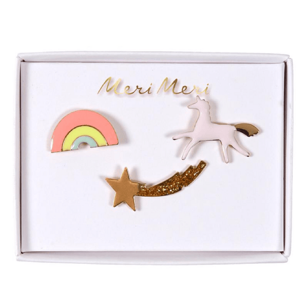 Meri Meri | Unicorn Enamel Pins | Shut the Front Door
