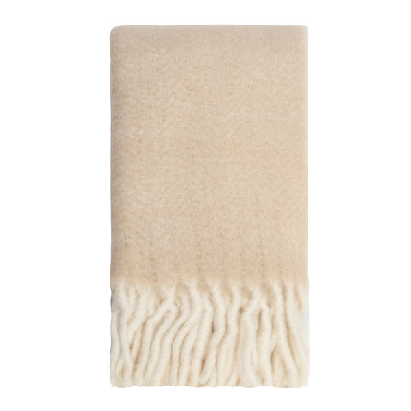 Kerridge Linen | Bliss Mohair Blend Herringbone Throw BONE | Shut the Front Door