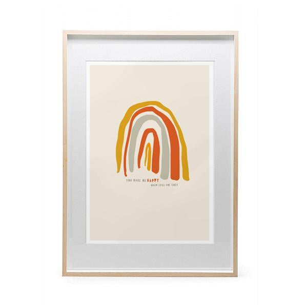 MAIKO NAGAO | Happy Rainbow Print A3 *Excludes Frame* | Shut the Front Door
