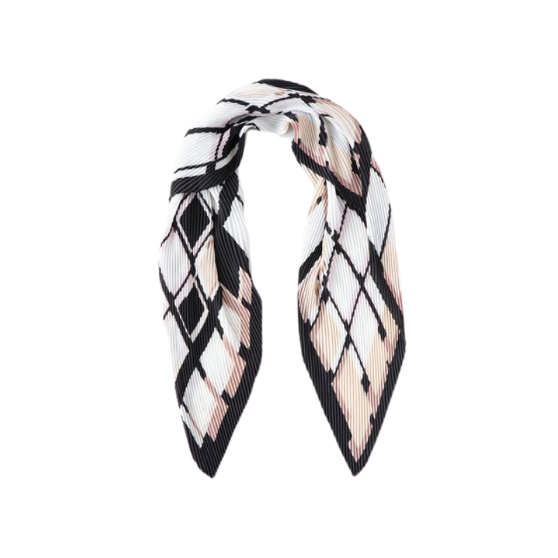 Antler NZ | Pleated Check Scarf - Black & Blush | Shut the Front Door