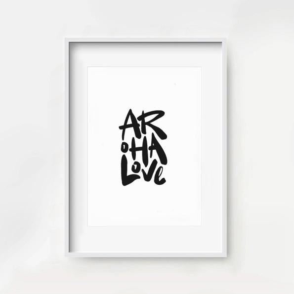 MAIKO NAGAO | Aroha Love Print A4 - Black & White  * Excludes Frame* | Shut the Front Door