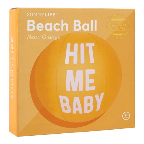 Sunnylife | Inflatable Ball - Hit Me Baby - Orange | Shut the Front Door