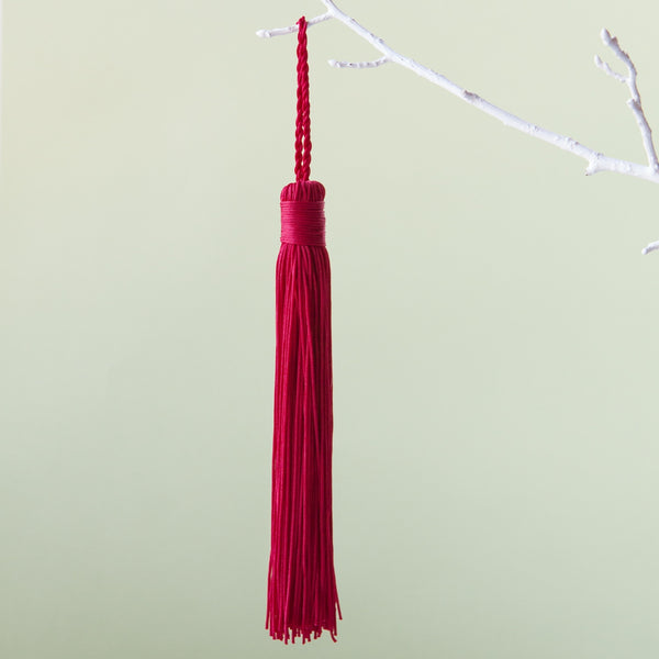 Down to the Woods | Tassel in Jester Red | Shut the Front Door
