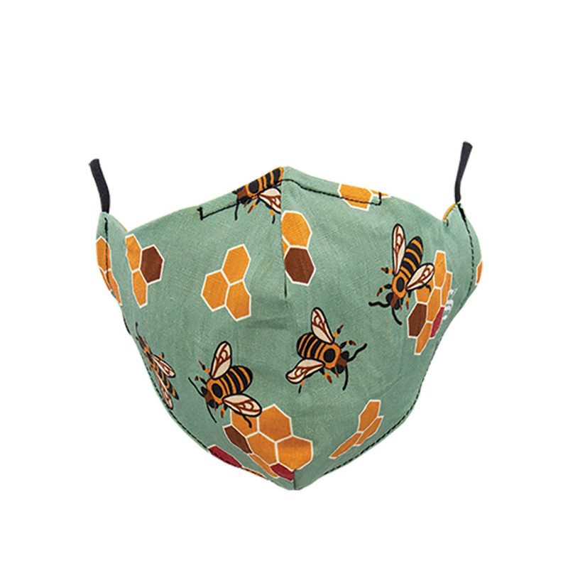 Socksmith | Face Mask Busy Bees - Seafoam | Shut the Front Door