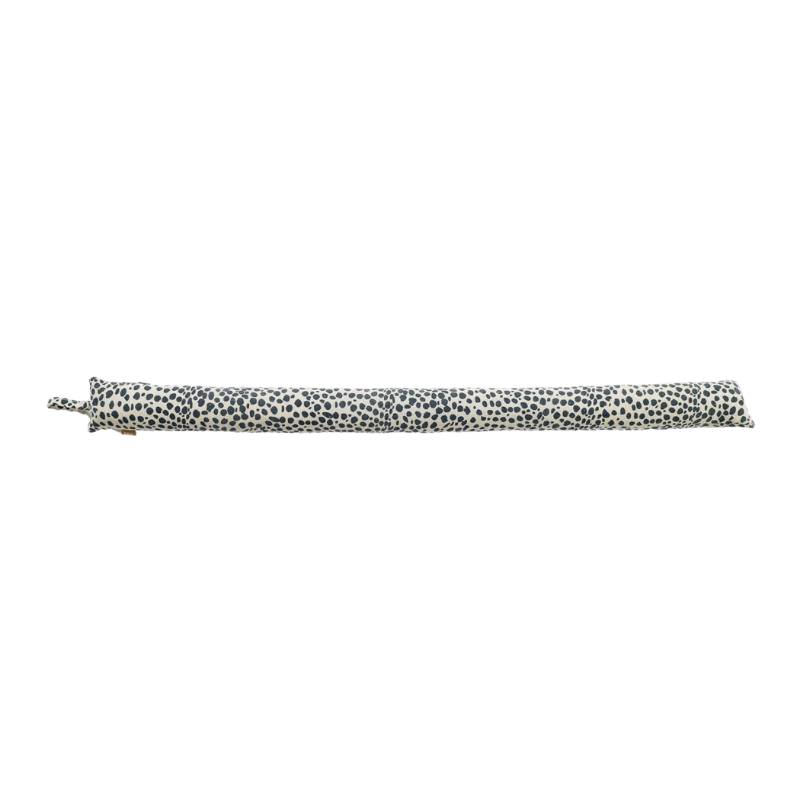 Raine & Humble | Animal Print Draught Stopper Slim - Navy | Shut the Front Door