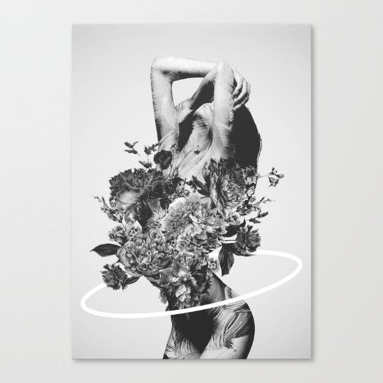 Society 6 | Large Canvas Print Be Slowly | Shut the Front Door