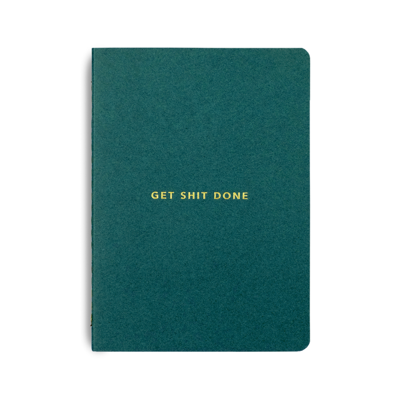 Mi Goals | Get Shit Done LE Notebook A6 - Forest Green | Shut the Front Door