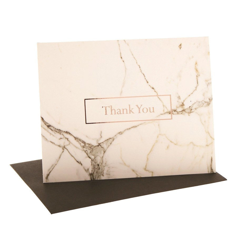 hiPP | Thank You Cards & Envelopes Scandi White Marble | Shut the Front Door