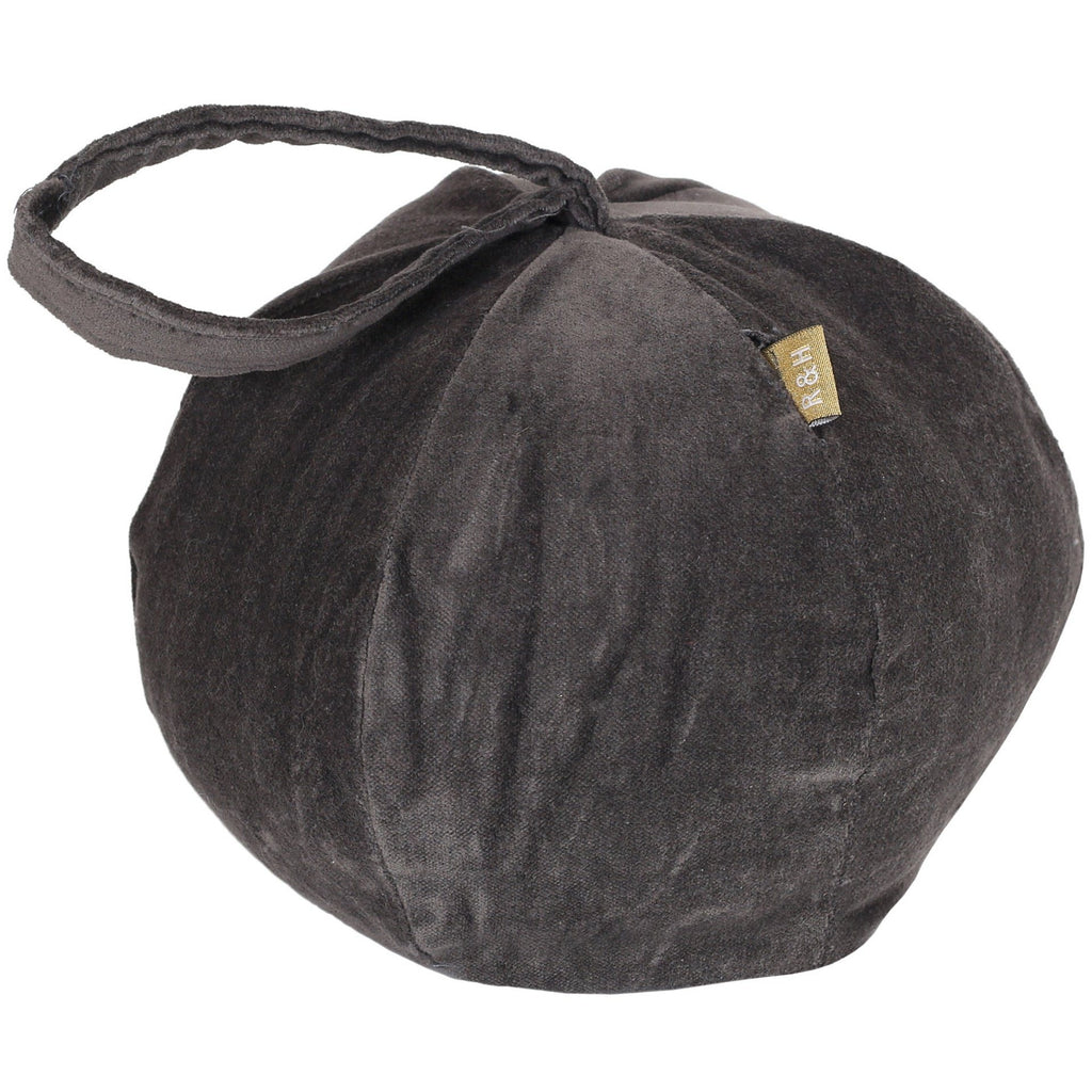 Raine & Humble | Velvet Doorstop Ballroom Charcoal | Shut the Front Door
